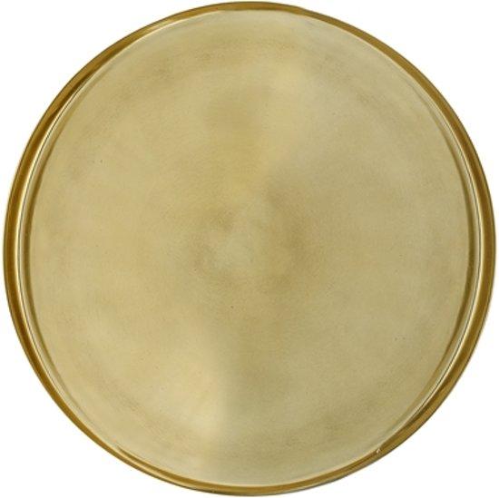 Bloomingville serveerschaal goud Ø50xH2,5 cm