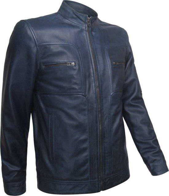 Original model Leren Jas Cobalt Blauw 50
