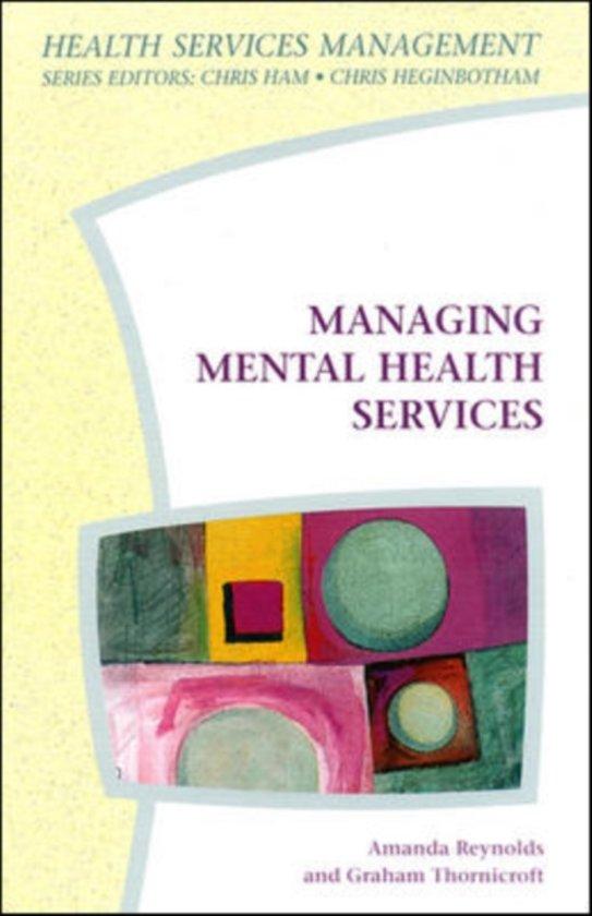 Bol Managing Mental Health Services 9780335198337 Graham