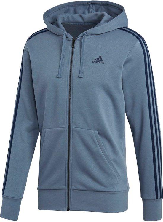 adidas - Essentials 3-Stripes Full-Zip FT - Heren - maat XL