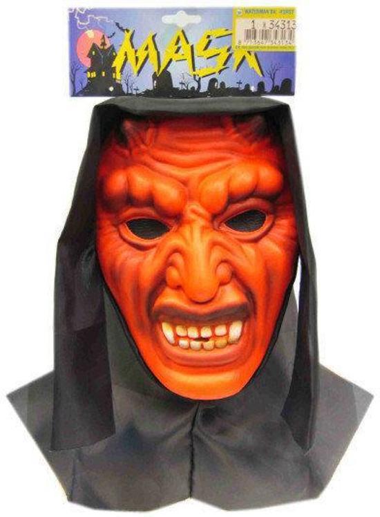 Vynil masker duivel met doek