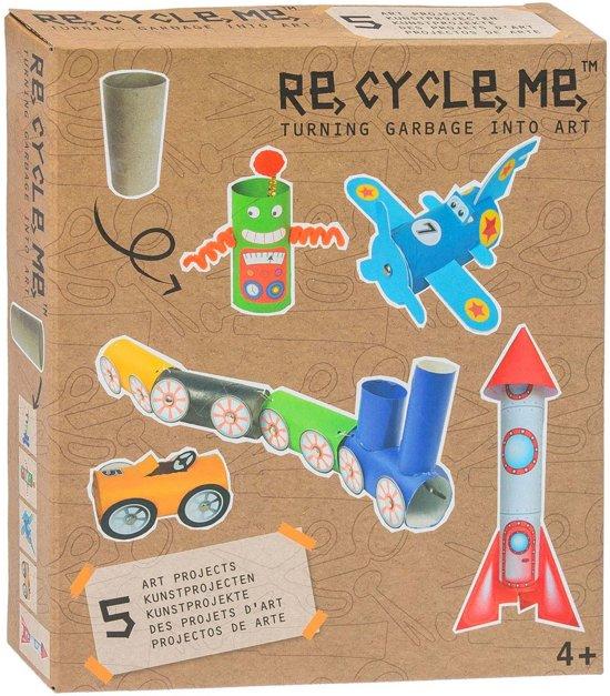 Re-cycle-me knutselpakket met toiletrollen stoer