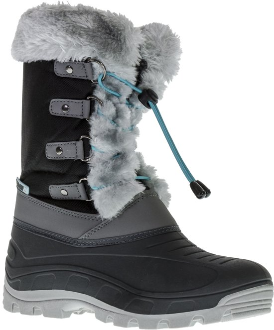 Wintergrip Snowboots - Maat 35 - Vrouwen - zwart/grijs/groen