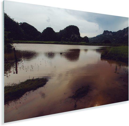 Moeras in de Vallei de Viñales in Cuba Plexiglas 60x40 cm - Foto print op Glas (Plexiglas wanddecoratie)