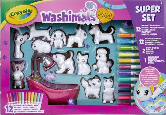 Afbeelding van Crayola Washimals XXL Set speelgoed