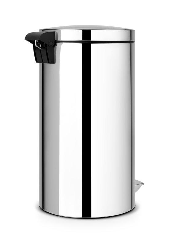 Brabantia Motioncontrol Pedaalemmer 30 L.Pedaalemmer 2x20 Liter Twin Bin Met 2 Kunststof Binnenemmers Motion Control Brilliant Steel