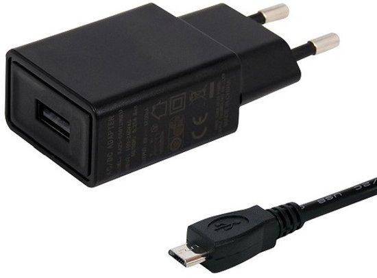 TUV gekeurde 2A oplader. 2,2 m Micro-USB kabel, geschikt voor GoPro Hero Actioncam.