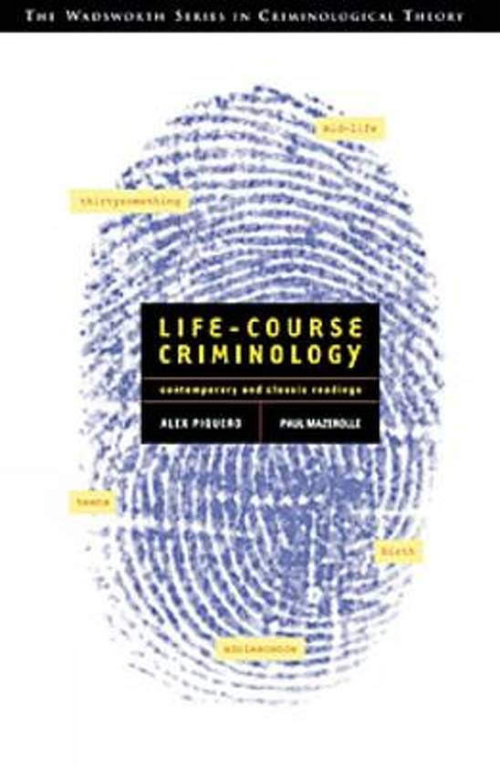 criminology life course theory