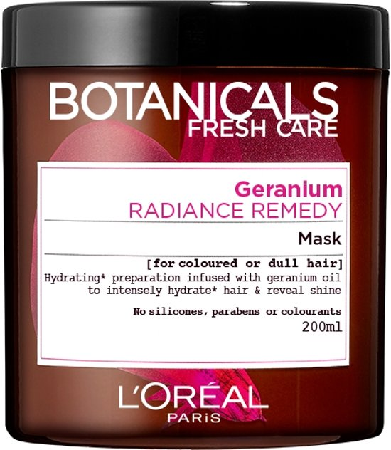 L'Oréal Paris Botanicals Geranium Radiance Remedy - 200ml - Haarmasker