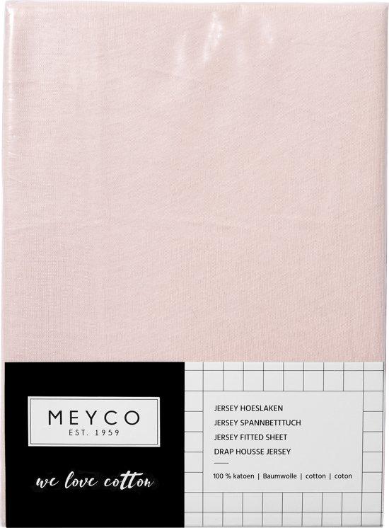Meyco jersey hoeslaken - 60x120 cm - lichtroze