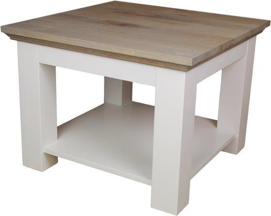 Bijzettafel Grijs Eiken.Hsm Collection Salontafel Provence 60x60 Cm Grijs Eiken Wit