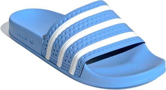 adidas slippers lichtblauw