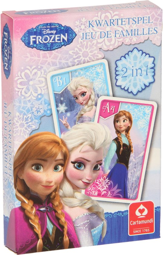 Bolcom Disney Frozen 2 In 1 Kwartet En Actiespel Cartamundi