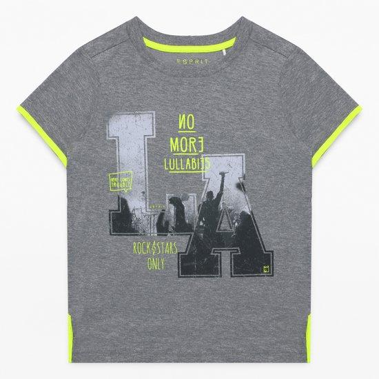 Esprit Jongens T-shirt - Grijs - Maat 104