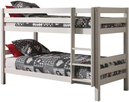 Emob Claire - Stapelbed - Wit - Laag - 103x208cm
