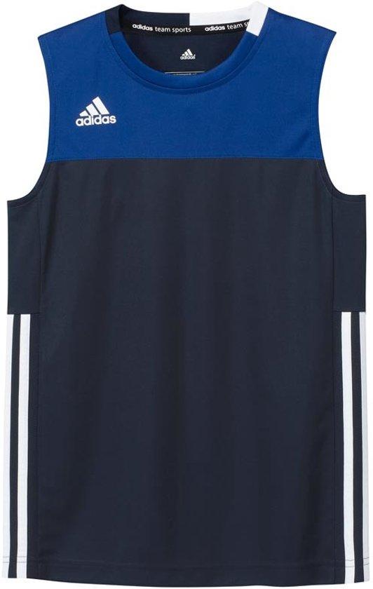 | Adidas T16 Singlet Boys Shirts blauw donker 176