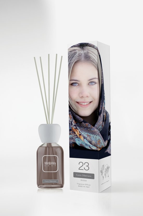 Mr&Mrs Fragrance Easy Geurdiffuser - Incl Geurstokjes - Siberian Leather - 250 ml
