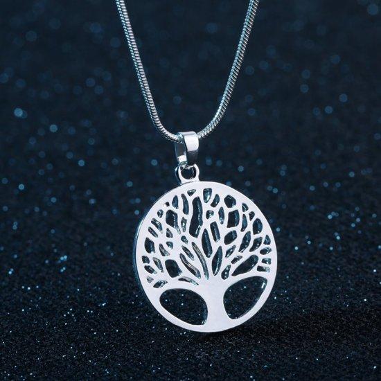 Fate Jewellery FJ443 Ketting - Tree of Life - Levensboom - Zilver - 45cm