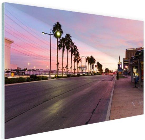 Kleurrijke lucht Las Vegas Glas 60x40 cm - Foto print op Glas (Plexiglas wanddecoratie)