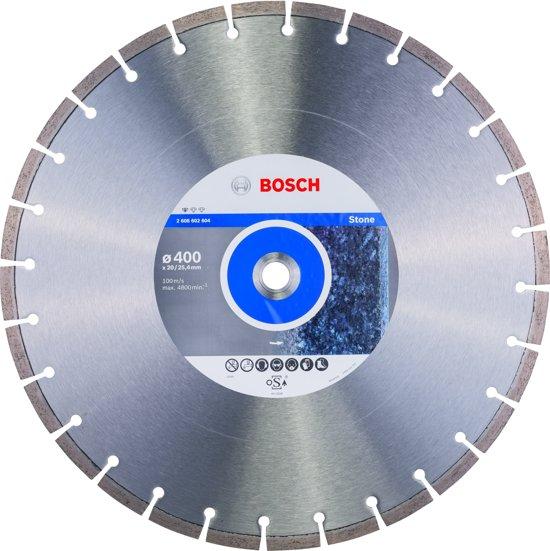 Bosch - Diamantdoorslijpschijf Standard for Stone 400 x 20,00+25,40 x 3,2 x 10 mm