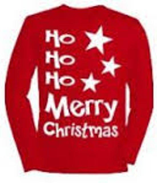 T Shirt met opdruk Ho Ho Ho Merry Christmas