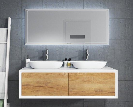 Bol.com badkamermeubel furore 140cm wit met led spiegel