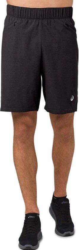Asics 2-N-1 7'' Short 2011A239-0904, Mannen, Zwart, Sportbroeken maat: L EU