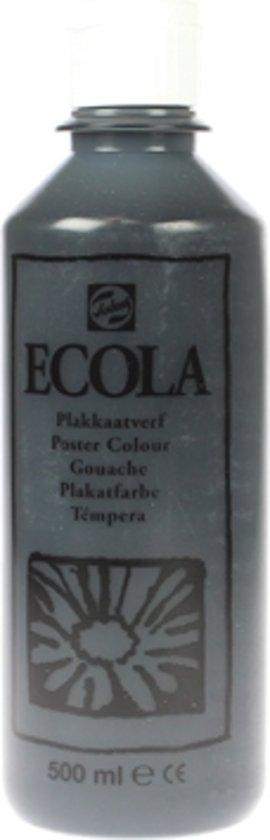 Plakkaatverf Ecola flacon van 500 ml, zwart
