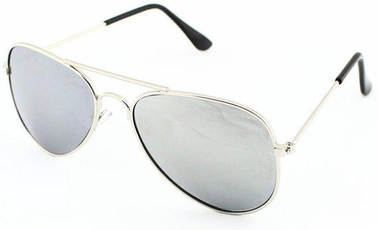 Zonnebril Lichte Glazen : Bol.com kinder aviator zonnebril zilver op zilver
