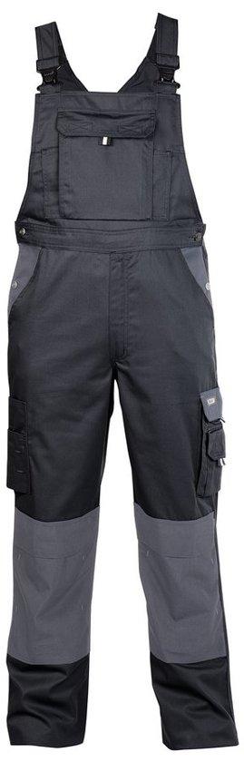 Dassy Versailles bretelbroek met kniezakken Zwart/Grijs maat 46