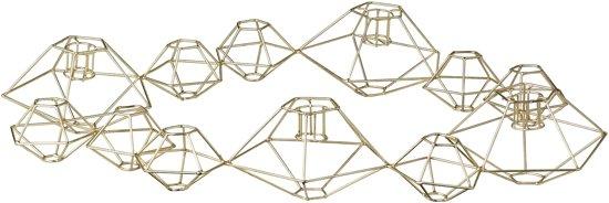 Bloomingville Pernille - Kandelaar - Metaal - 37x46x7 (lxbxh) - Brons