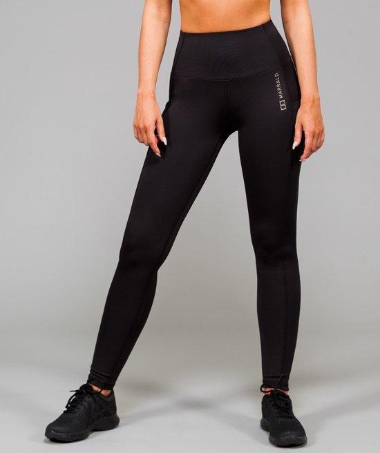 Marrald High Waist Pocket Sportlegging | Zwart - M dames yoga fitness