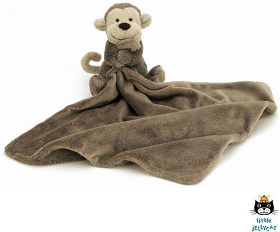 Jellycat bashful monkey knuffeldoek aap 33 cm