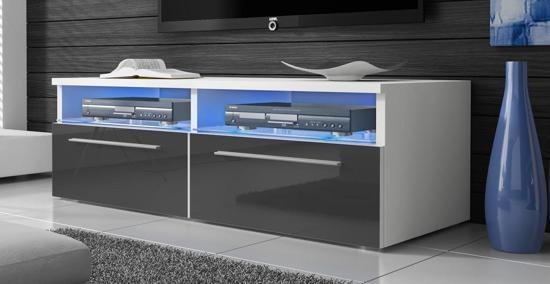 Led Verlichting Kast : Bol tv meubel tv kast sieno met led verlichting wit