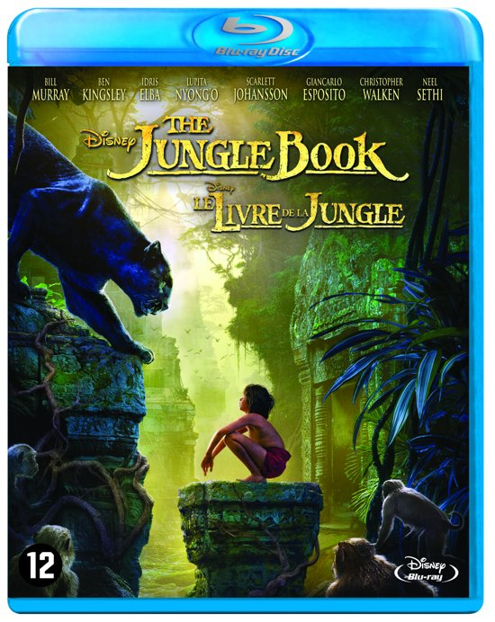 DVD cover van The Jungle Book (2016) (Blu-ray)