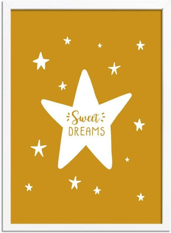 Bolcom Kinderkamer Poster Sweet Dreams Designclaud Mosterd Geel