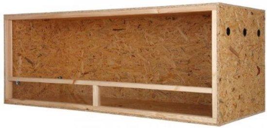 Terrarium van hout - Extra Large - 120 cm x 60 cm x 60 cm