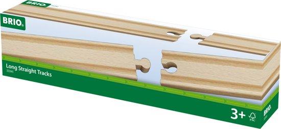 BRIO 33341 Lange 1/1 Rechte Rails (4 stuks)
