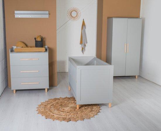 Complete Aankleding Babykamer.Cabino Babykamer Kopenhagen 3 Delig Grijs