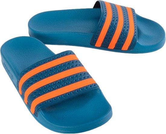 adidas Adilette Slippers Unisex - Blauw/Oranje - Maat 37