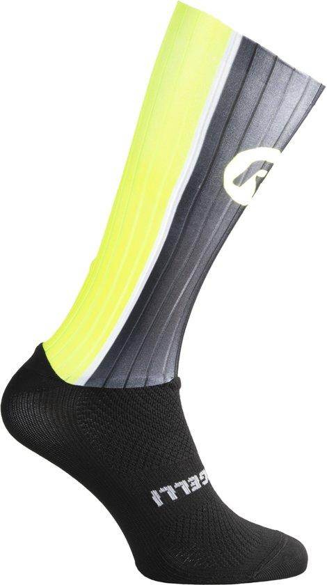 Aero sokken Zwart/fluor 007.005 maat 36/39