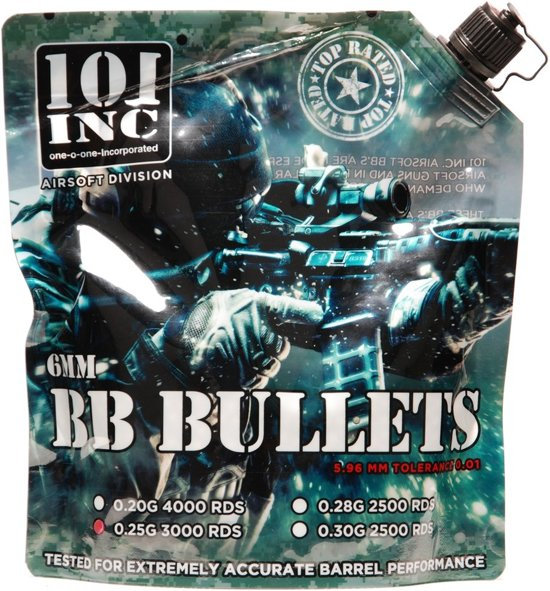 101 Inc Airsoft Extreme Bbs 0.25G 6Mm Zak