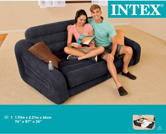 Intex bank / bed opblaasbaar 193x221x66 cm 2 personen 68566NP