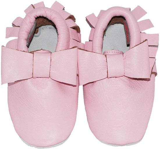 BabySteps slofjes Moccasins Bow Pink Ibiza Style extra small