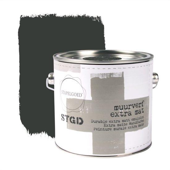 Stapelgoed - Muurverf extra mat - After Dark - Zwart - 2,5L