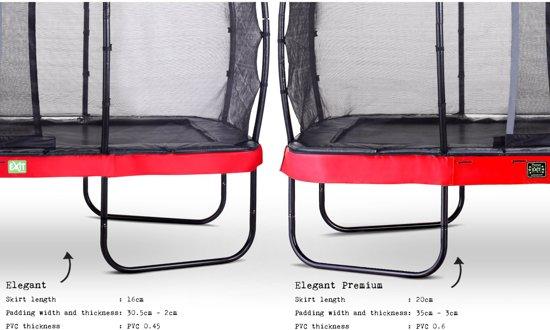 EXIT Elegant Premium trampoline 214x366cm met veiligheidsnet Deluxe - rood