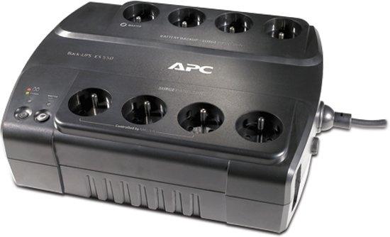 APC Back-UPS 550VA - Noodstroomvoeding / 8x penaarde / USB