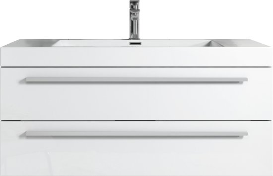 Wastafel Met Kast : Bol badplaats badkamermeubel rome cm hoogglans wit kast