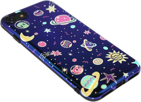Ruimte heelal siliconen hoesje iPhone 8 Plus / 7 Plus