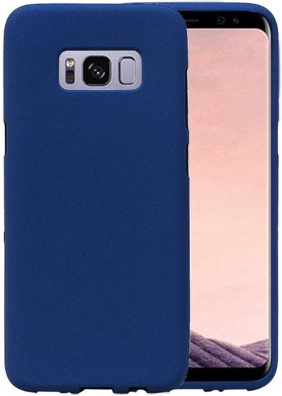 ffebd4575cc BestCases.nl Blauw Zand TPU back case cover hoesje voor Samsung Galaxy S8